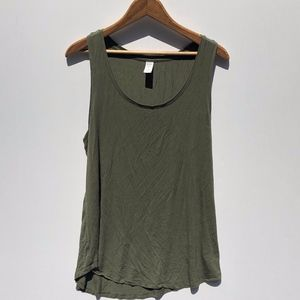 Old Navy Luxe Sleeveless Top Scoop Large Green